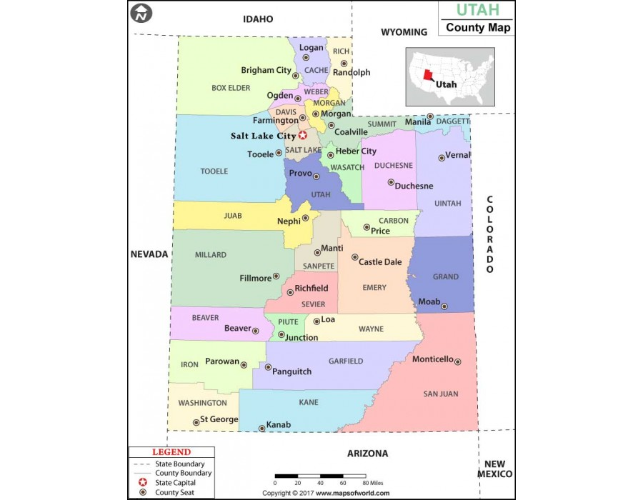 Buy utah county map Home decor stores utah county