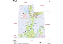 Reference Map of Utah - Digital File