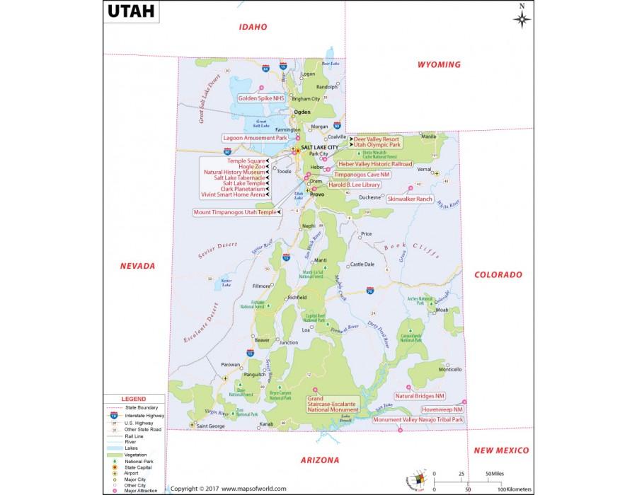 Buy Utah Map in Raster and Vector File Format