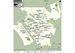 Vallejo City Map, California