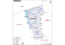 Vermont Map - Digital File