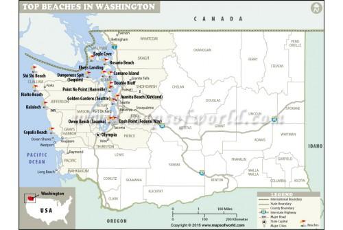 Washington Beaches Map