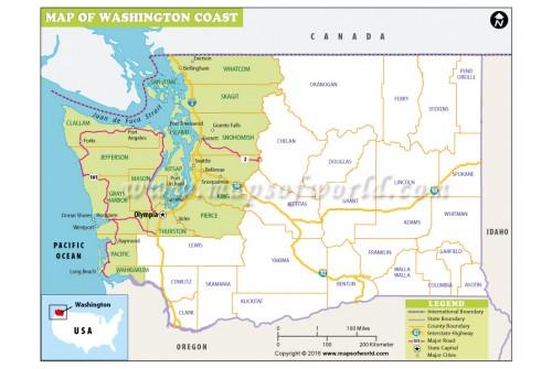 Washington Coast Map