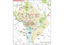 Washington DC Map - Digital File