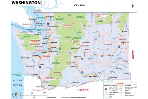 Reference Map of Washington