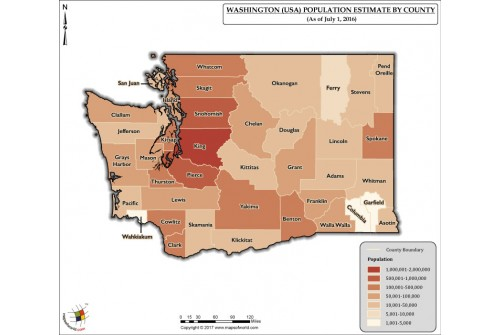 Washington Population Estimate By County 2016 Map