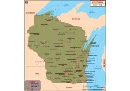 Wisconsin Airports Map