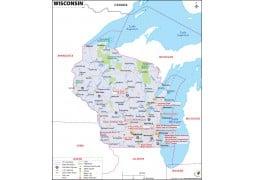 Map of Wisconsin - Digital File