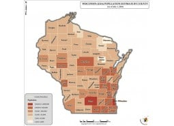 Wisconsin Population Estimate By County 2016 Map
