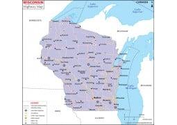 Wisconsin Road Map  - Digital File