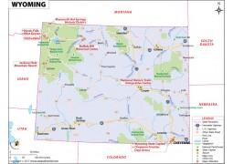 Wyoming Map - Digital File