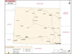 Wyoming Railway Map - Digital File