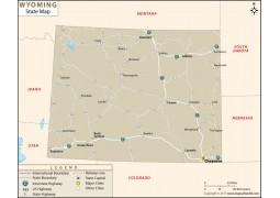 Wyoming State Map - Digital File