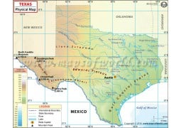 Texas Physical Map