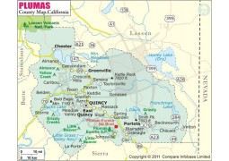 Plumas County Map, California
