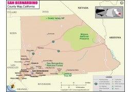 San Bernardino County Map - Digital File