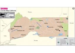 Sierra County Map, California - Digital File