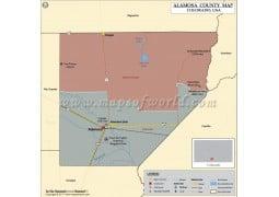 Alamosa County Map, Colorado