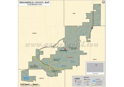 Broomfield County Map, Colorado - Digital File