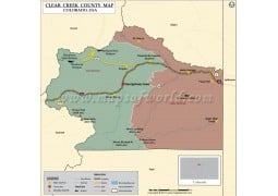 Clear Creek County Map, Colorado - Digital File