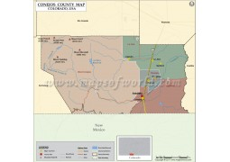 Conejos County Map, Colorado - Digital File