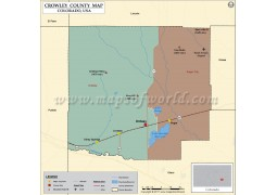 Crowley County Map, Colorado - Digital File