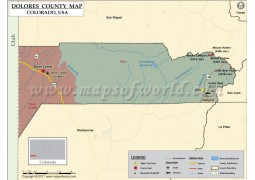 Dolores County Map, Colorado - Digital File