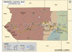 Fremont County Map, Colorado - Digital File