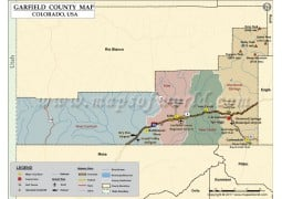 Garfield County Map, Colorado - Digital File