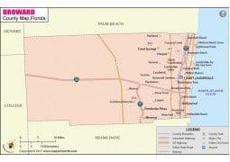 Broward County Map - Digital File