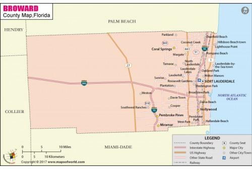 Broward County Map
