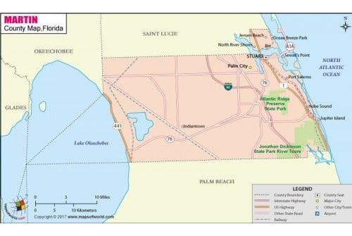 Martin County Map