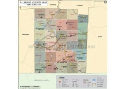 Allegany County Map, New York - Digital File