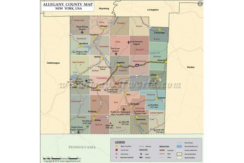 Allegany County Map, New York