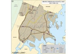 Bronx County Map, New York - Digital File