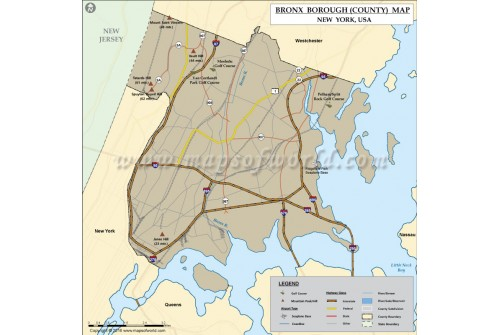 Bronx County Map, New York