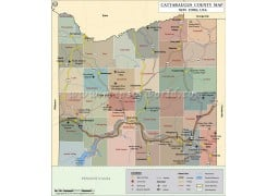 Cattaraugus County Map, New York - Digital File