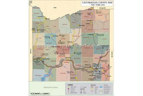 Cattaraugus County Map, New York