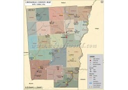 Chenango County Map, New York - Digital File