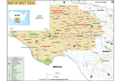 West Texas Map