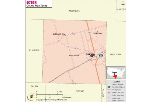 Ector County Map