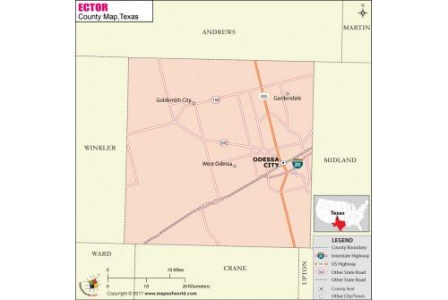 Ector County Map