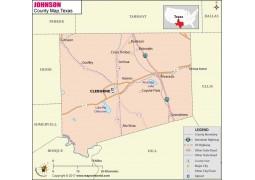 Johnson County Map, Texas - Digital File