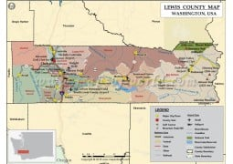 Lewis County Map, Washington - Digital File