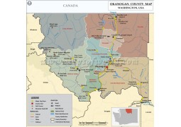 Okanogan County Map, Washington - Digital File