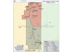 Pend Oreille County Map, Washington - Digital File