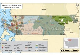 Skagit County Map, Washington - Digital File