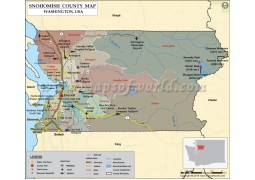 Snohomish County Map, Washington - Digital File