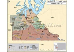 Thurston County Map, Washington - Digital File