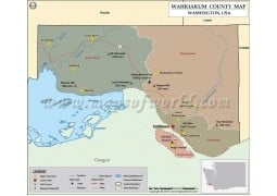 Wahkiakum County Map, Washington - Digital File